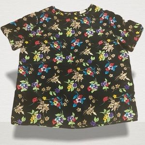 BENTLEY floral pullover top large